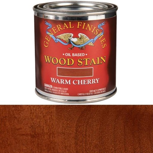 View a Larger Image of Warm Cherry Stain Solvent Based 1/2 Pint
