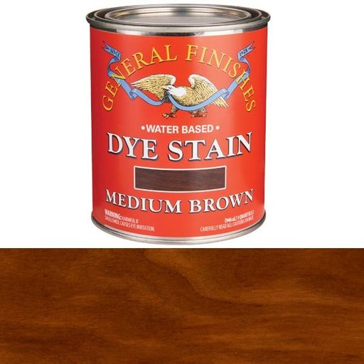 View a Larger Image of Water Based Dye Medium Brown Quart