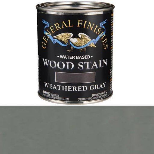 View a Larger Image of Water Based Wood Stain, Weathered Gray Pt