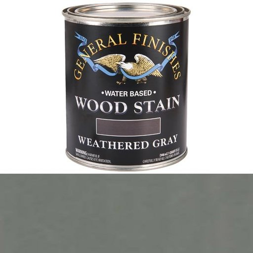View a Larger Image of Water Based Wood Stain, Weathered Gray Qt