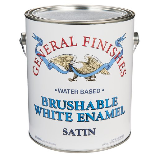View a Larger Image of General Finishes White Enamel Satin Gallon