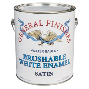 White Satin Enamel Water Based Gallon