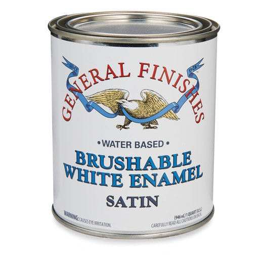 View a Larger Image of General Finishes White Enamel Satin Quart
