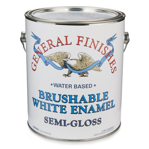 View a Larger Image of General Finishes White Enamel Semi-Gloss Gallon
