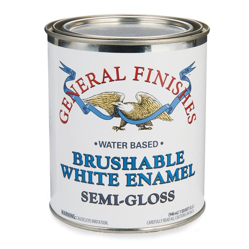 View a Larger Image of General Finishes White Enamel Semi-Gloss Quart