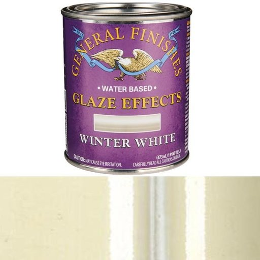 View a Larger Image of Winter White Glaze Pint