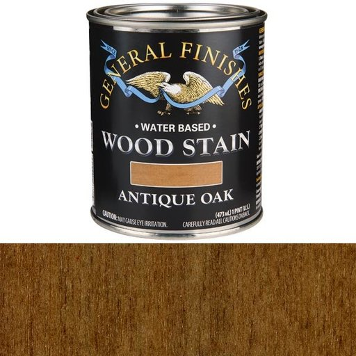 View a Larger Image of Wood Stain, Water Based, Antique Oak Stain, Pint