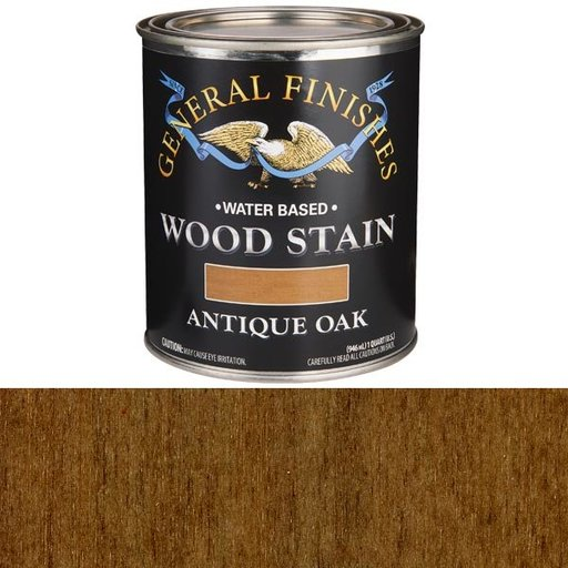 View a Larger Image of Wood Stain, Water Based, Antique Oak Stain, Quart