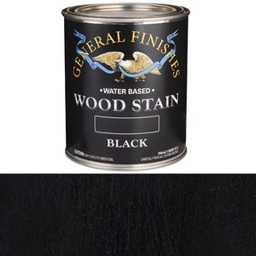 Wood Stain, Water Based, Black Stain, Quart