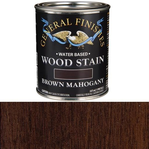 View a Larger Image of Wood Stain, Water Based, Brown Mahogany Stain, Pint