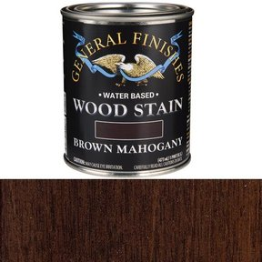 Wood Stain, Water Based, Brown Mahogany Stain, Pint