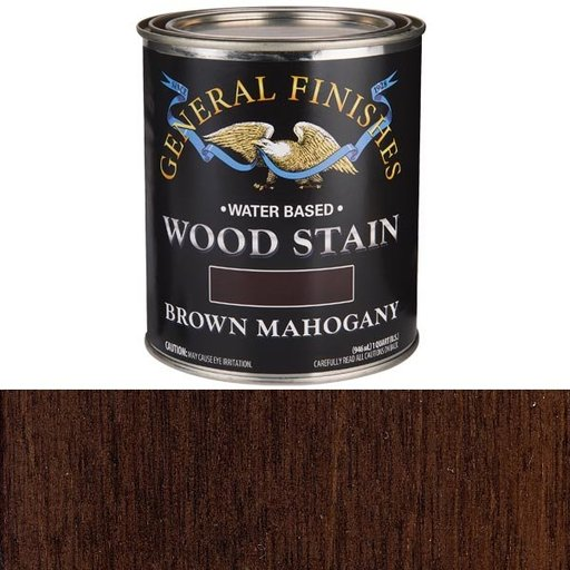 View a Larger Image of Wood Stain, Water Based, Brown Mahogany Stain, Quart