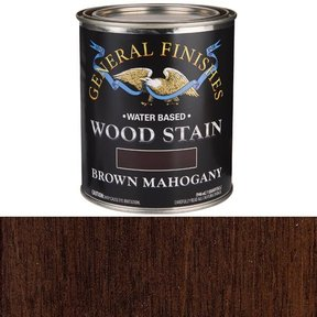 Wood Stain, Water Based, Brown Mahogany Stain, Quart