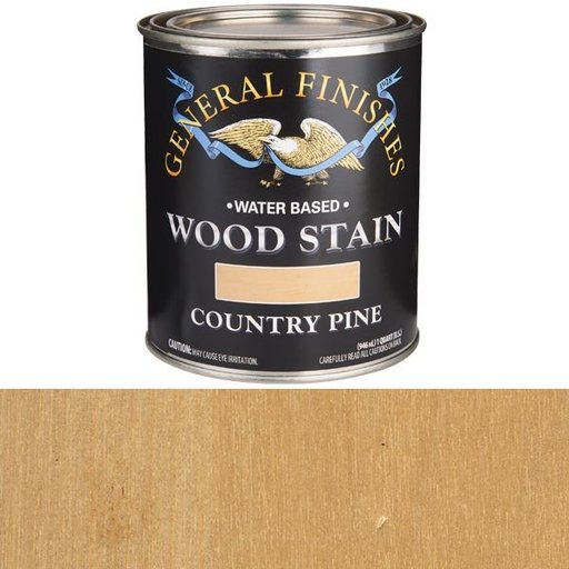 View a Larger Image of Wood Stain, Water Based, Country Pine Stain, Quart