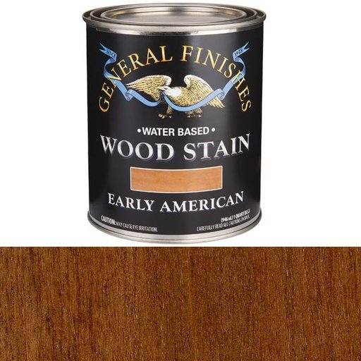 View a Larger Image of Wood Stain, Water Based, Early American Stain, Quart