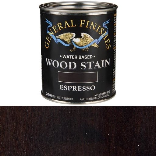 View a Larger Image of Wood Stain, Water Based, Espresso Stain, Pint