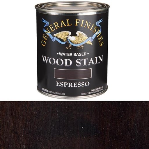 View a Larger Image of Wood Stain, Water Based, Espresso Stain, Quart