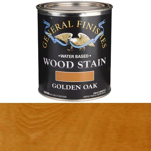 View a Larger Image of Wood Stain, Water Based, Golden Oak Stain, Quart