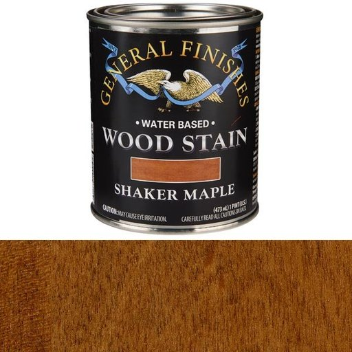 View a Larger Image of Wood Stain, Water Based, Shaker Maple Stain, Pint