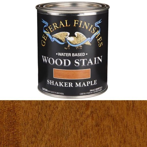 View a Larger Image of Wood Stain, Water Based, Shaker Maple Stain, Quart
