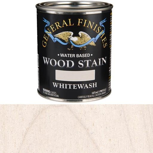 View a Larger Image of Wood Stain, Water Based, Whitewash Stain, Pint