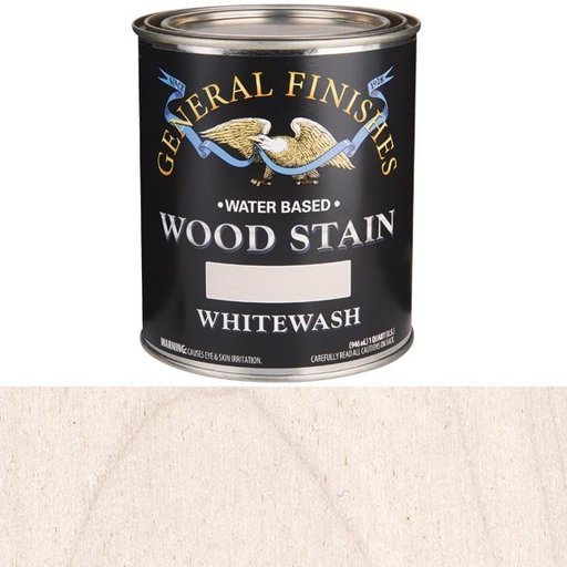 View a Larger Image of Wood Stain, Water Based, Whitewash Stain, Quart