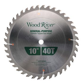 "General-Purpose Thin Kerf Saw Blade 10"" 40T"