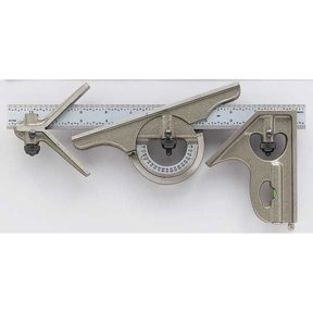 Combination Square and Protractor Set, Model MG-S281-4R