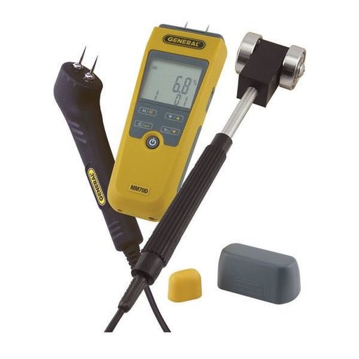 View a Larger Image of LCD Moisture Meter Kit, Model MM70D-7022KIT