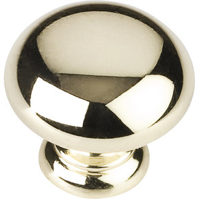 "Geneva Knob, 1-1/4"" Dia.,  Polished Brass"
