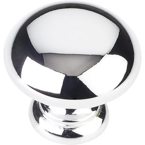 "Geneva Knob, 1-1/4"" Dia.,  Polished Chrome"