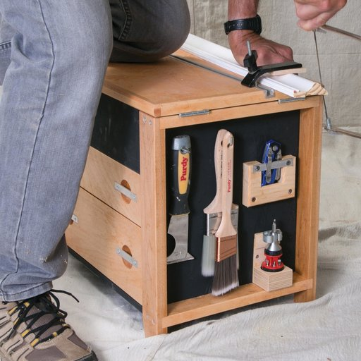 View a Larger Image of Get to Work with a Tool Stool Downloadable Plan