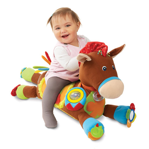 View a Larger Image of Giddy-Up and Play Baby Activity Toy - Multi-Sensory Horse