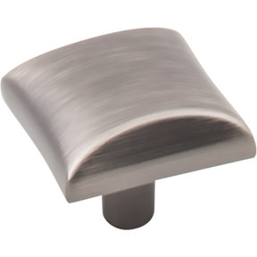 "Glendale Knob, 1-1/8"" O.L.,  Brushed Pewter"