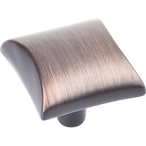 "Glendale Knob, 1-1/8"" O.L.,  Brushed Oil Rubbed Bronze"