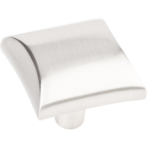 "Glendale Knob, 1-1/8"" O.L.,  Satin Nickel"