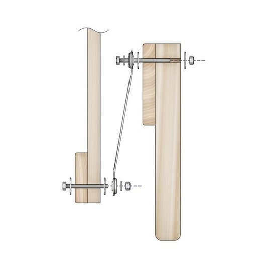 View a Larger Image of Glider Bracket Hardware, 4 piece
