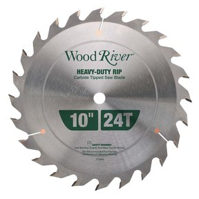 "Heavy-Duty Rip Saw Blade 10"" 24T"