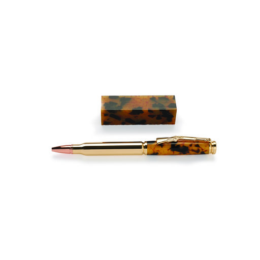 View a Larger Image of Gold Quartz Acrylic Pen Blank