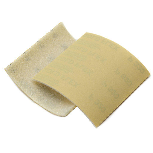 "View a Larger Image of Goldflex Soft 4 1/2"" X 5"" Foam-Backed Abrasive Pad 150 grit, , 200/roll"