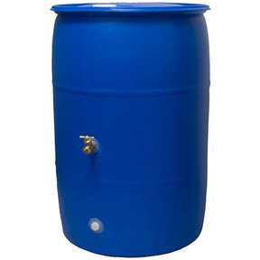 Good Ideas Big Blue Rain Barrel, 55 gallon