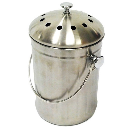 View a Larger Image of Good Ideas Compost Wizard Kitchen Composter, Stainless
