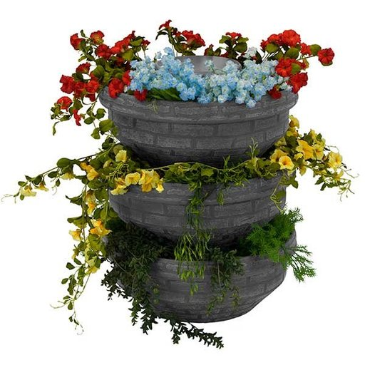 View a Larger Image of Good Ideas English Composting Garden, 3 pack, Slate