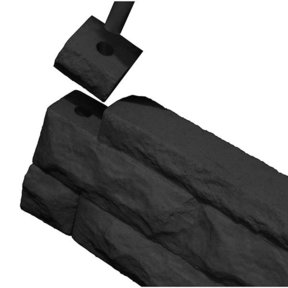 Good Ideas Garden Wizard Border Finish Kit, Dark Granite