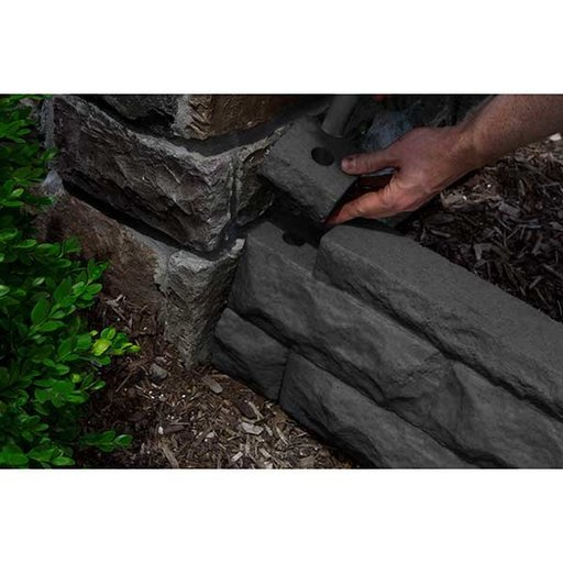 View a Larger Image of Good Ideas Garden Wizard Border Finish Kit, Dark Granite