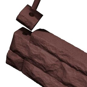 Good Ideas Garden Wizard Border Finish Kit, Red Brick