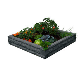 Good Ideas Garden Wizard Raised Garden Bed, Dark Granite