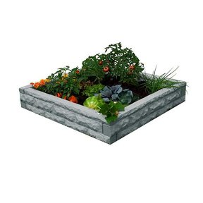 Good Ideas Garden Wizard Raised Garden Bed, Light Granite