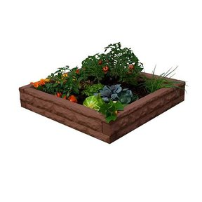 Good Ideas Garden Wizard Raised Garden Bed, Red