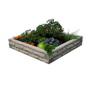 Good Ideas Garden Wizard Raised Garden Bed, Sandstone